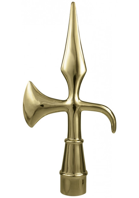 "8 1/4"" Gold Metal Battle Axe Ornament"