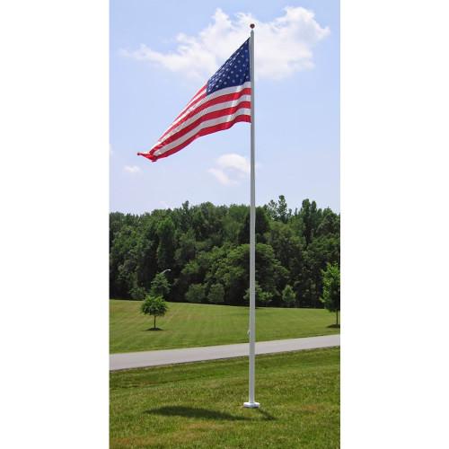 External Halyard Fiberglass Flagpoles