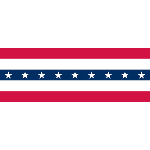 """36"""" Wide Plastic Stars and Stripes Bunting"""
