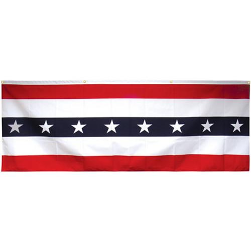3' x 8' Cotton Patriotic Flag Flat