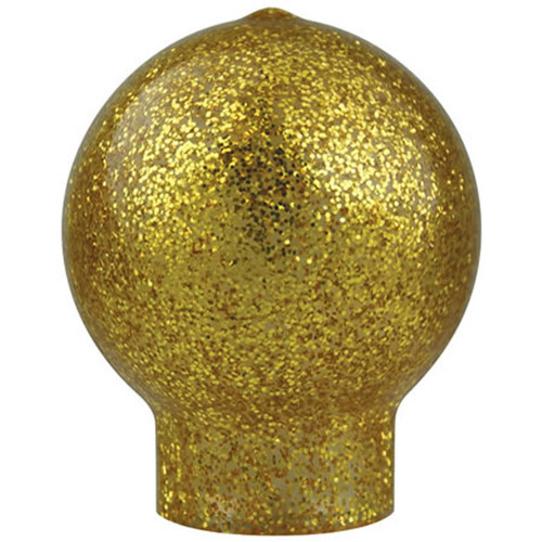 Gold Vinyl Slip Fit Ball Ornament