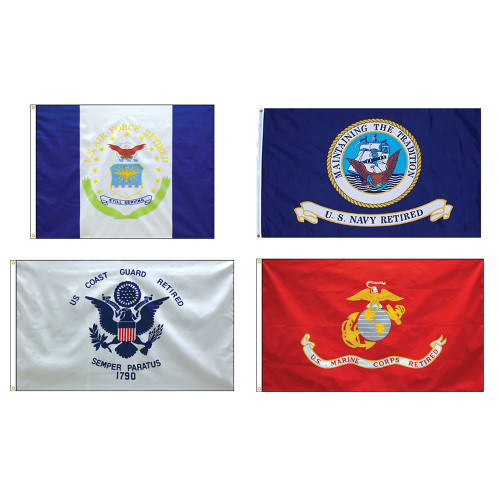 Military Retiree Flags