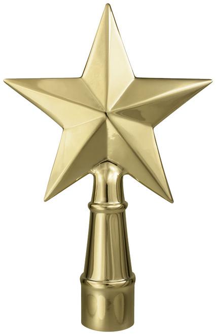 "7"" Gold Metal Texas Star Ornament"