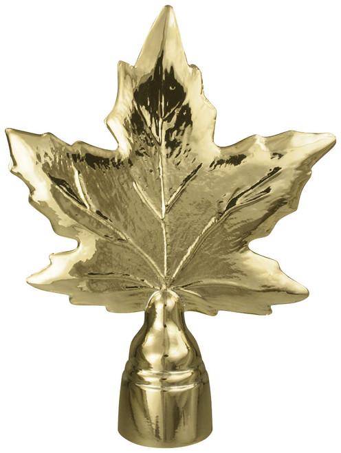Gold Metal Maple Leaf Ornament