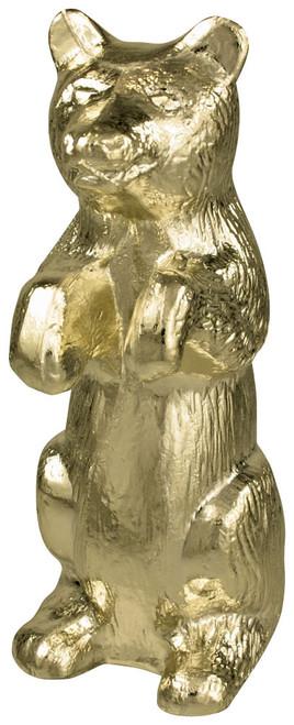 Gold Metal Maple Leaf Ornament