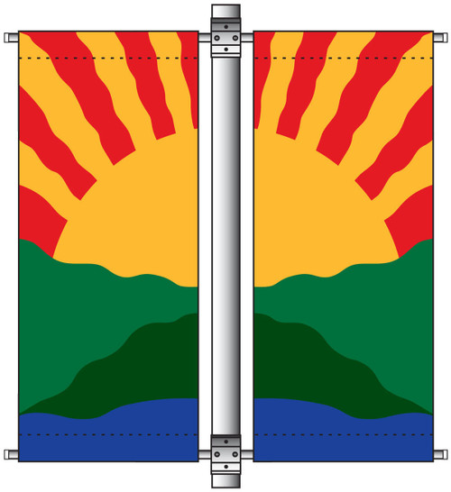 Deluxe Double Arm Double Sided Avenue Banner Mounting Sets