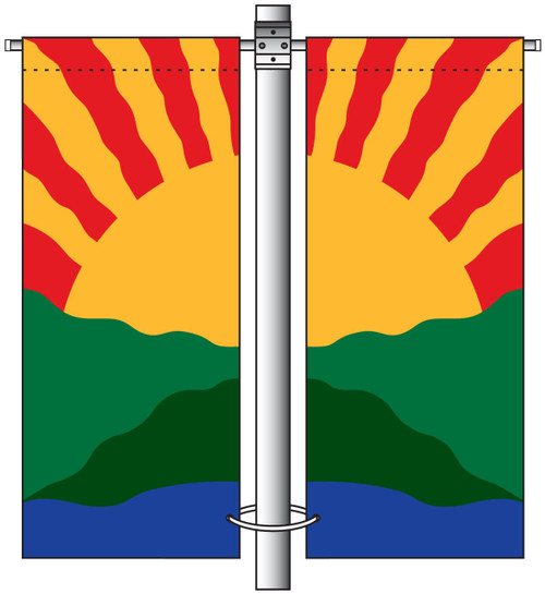 Deluxe Single Arm Double Sided Avenue Banner Mounting Sets