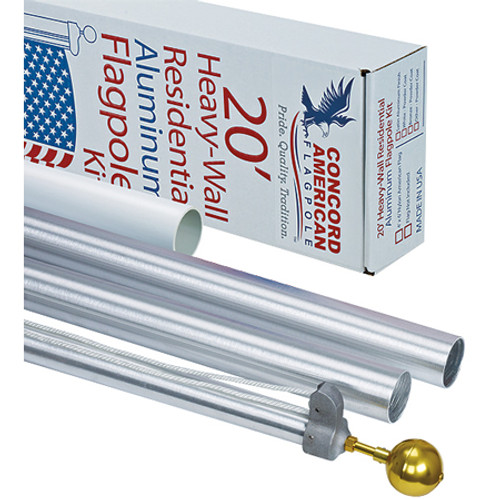 "20' x 3"" x .125 American Tradition Flagpole Kit"