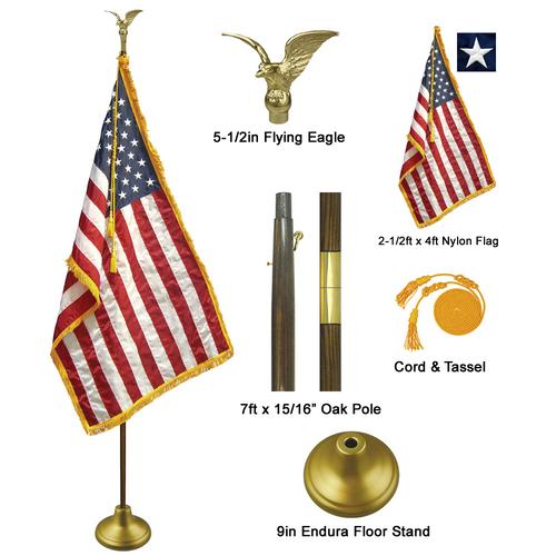 7' Deluxe Indoor Flag Set