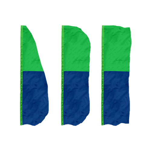 2-Horizontal Panel Vertical Banner Flags