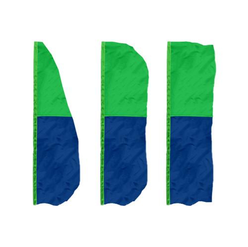 2-Horizontal Panel Vertical Banner Flags