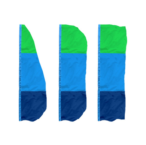 3-Horizontal Panel Vertical Banner Flags