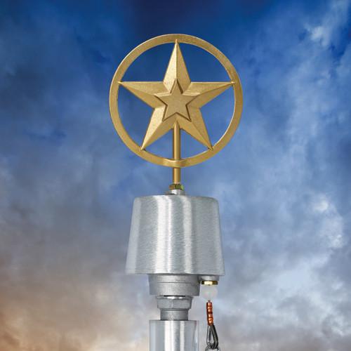 Texas Star Flag Pole Ornament TSF-0100-GDT TSF-0200-GDT