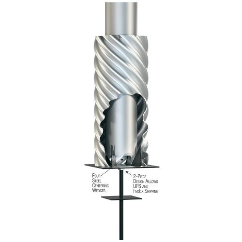 Steel Flag Pole Foundation Sleeves