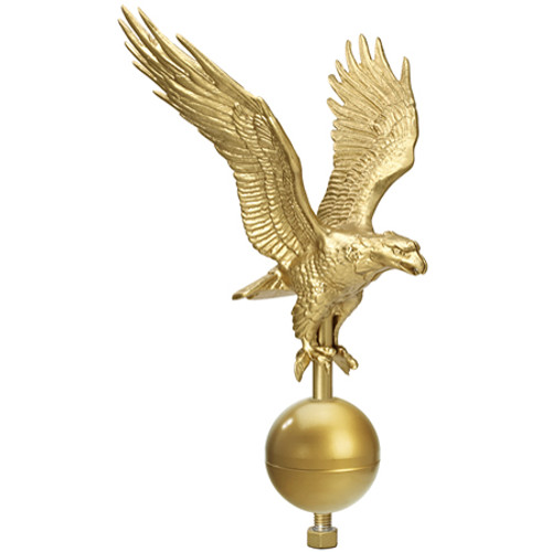 "27"" Flying Eagle on 3"" Ball Ornament EAG-0560-GDT"