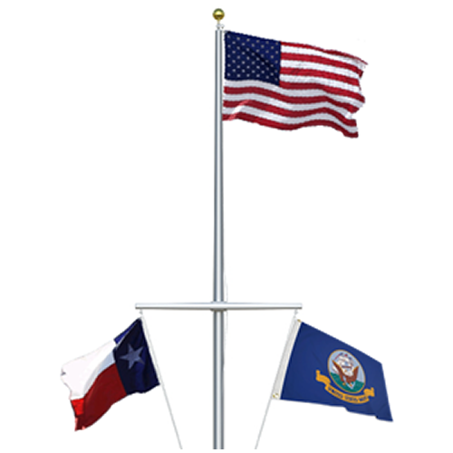 Single Mast Nautical Flagpole