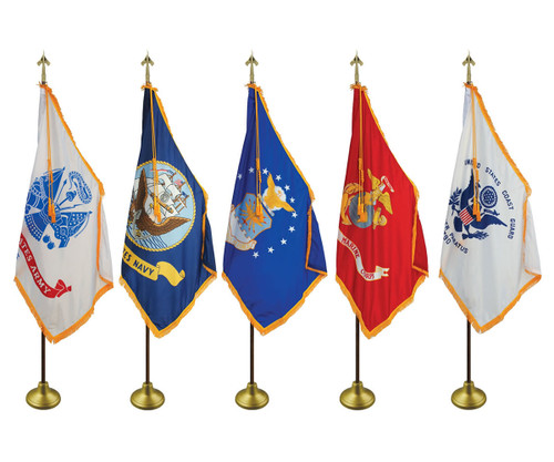 Deluxe Indoor Military Flag Set, 3' x 5' Flag
