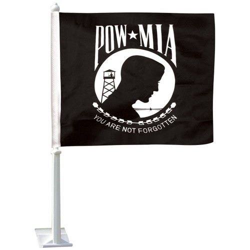 E-Poly Auto Window POW-MIA Flag