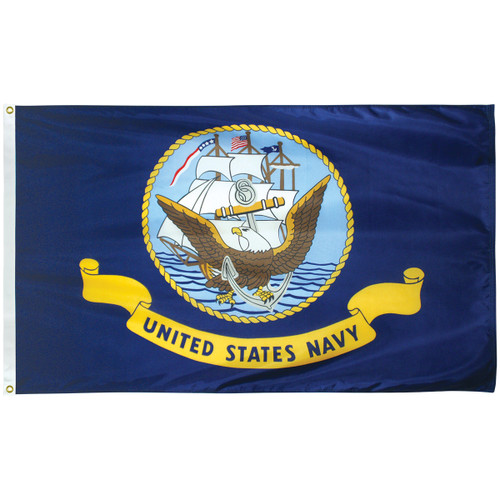 3' x 5' Poly-Max Outdoor Navy Flag