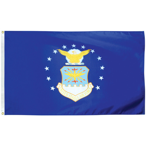 3' x 5' Poly-Max Outdoor Air Force Flag 070409