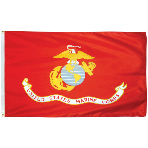 3' x 5' Poly-Max Outdoor Marine Corps Flag 070408