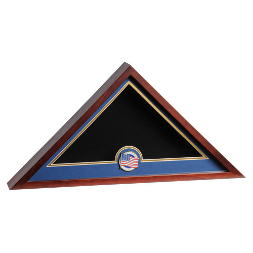 US Flag Display Case with US Flag Medallion