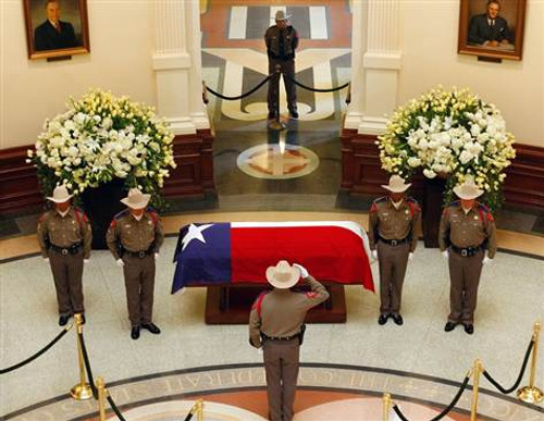 Polyester Texas Interment Flag - Casket Flags