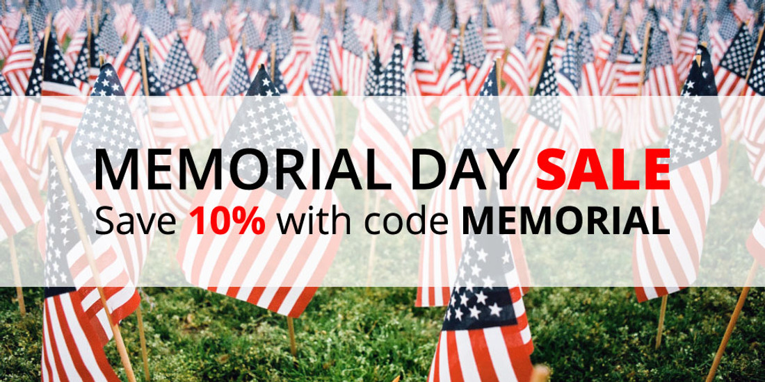 Memorial Day Sale: Save 10% with code MEMORIAL