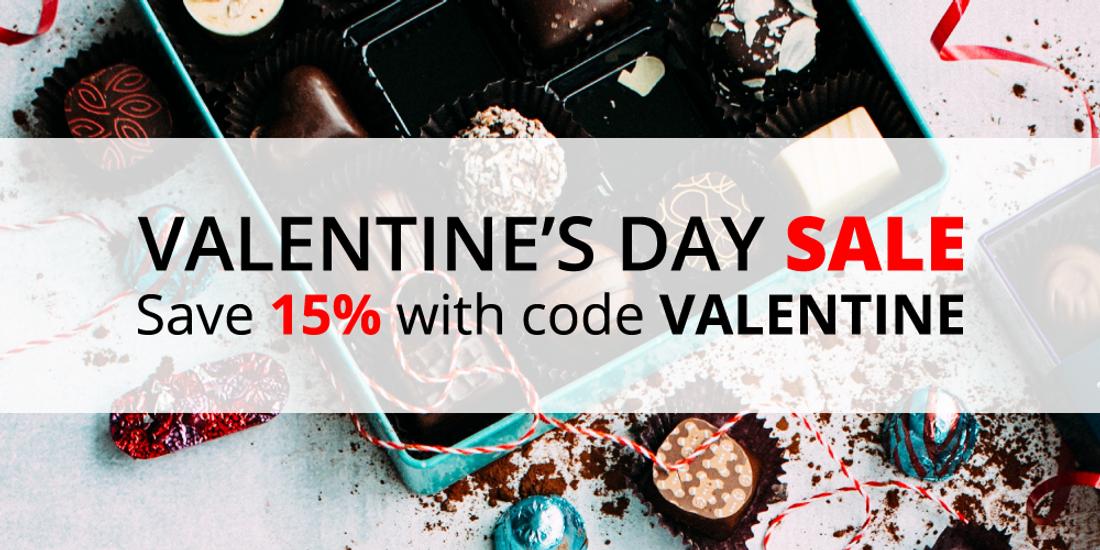 Valentine's Day Sale: Save 15% with code VALENTINE