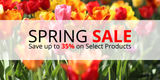 Spring Sale: Save up to 35% on Select Products