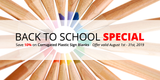 Back to School Special: Save 10% on Corrugated Plastic Sign Blanks