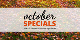 October Specials: 20% Off Painted Aluminum Sign Blanks