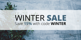 Winter Sale: Save 15% with code WINTER