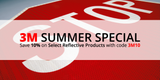 3M Summer Special: Save 10% on Select Reflective Products with code 3M10