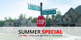Summer Special: Save 10% on Decorative Sign Posts and Accessories