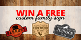 Custom Family Signs Launch and Giveaway!