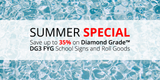 Summer Special: Save up to 35% on Diamond Grade DG3 Fluorescent Yellow Green School Signs and Roll Goods