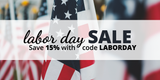 Labor Day Sale: Save 15% Sitewide!