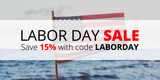 Labor Dale Sale: Save 15% with code LABORDAY