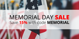 Memorial Day Sale: Save 15% with code MEMORIAL