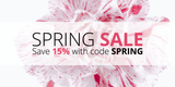 Spring Sale: Save 15% sitewide with code SPRING
