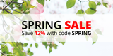 Spring Sale: Save 12% with code SPRING