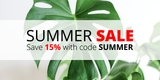 Summer Sale: Save 15% with code SUMMER