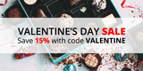 Valentine's Day Sale: Save 15% with code VALENTINE