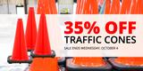 Flash Sale! 35% Off Traffic Cones