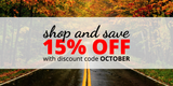 Weekend Sale: 15% Off Sitewide with Code OCTOBER