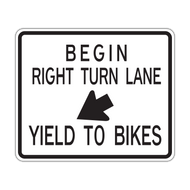 R4-4 Begin Right Turn Lane Yield To Bikes