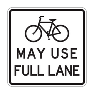 R4-11 Bicycles May Use Full Lane