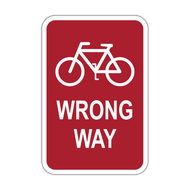 R5-1b Bicycle Wrong Way