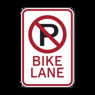 R7-9a No Parking Bike Lane